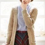 Long Seed Stitch Cardigan Free Knitting Pattern