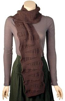 Wedge free scarf knitting pattern
