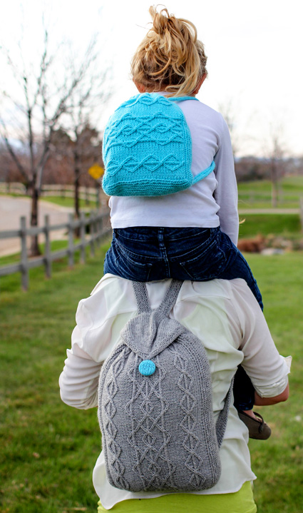 Adventure Cable Backpack Free Knitting Pattern