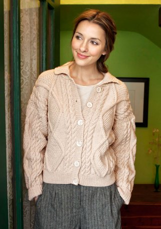 Alexi Classic Cabled Jacket Free Knit Pattern