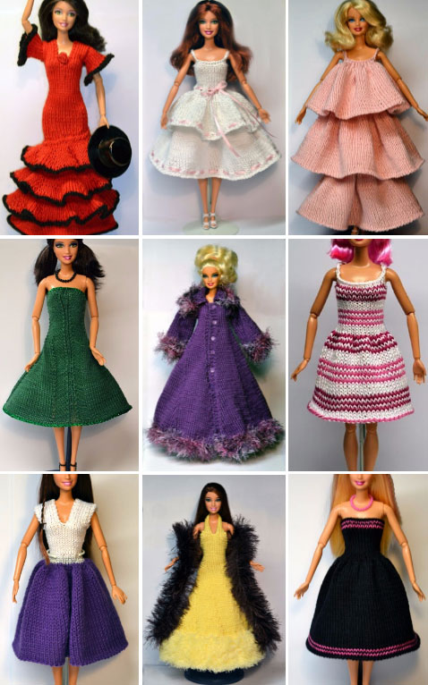 Free free Barbie clothes knitting patterns Patterns ⋆ Knitting Bee ...