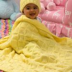 Baby Blocks Blanket and Hat Set Knit Pattern Free