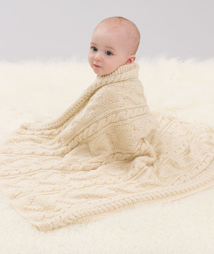 Baby Loves Cables Throw Free Knitting Pattern