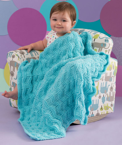 Baby Waves Blanket Free Knitting Pattern