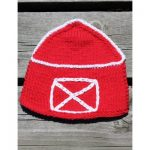 Barn Dishcloth Shaped Free Knit Pattern