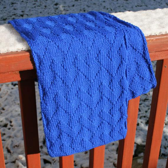 Basket Weave Scarf Free Knitting Pattern