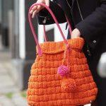 Basketweave Bag to Knit in Orange