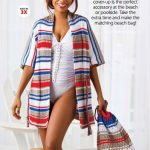 Beach cover up and bag set knitting pattern free