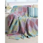 Bernat Mitered Blanket Free Easy Knit Pattern