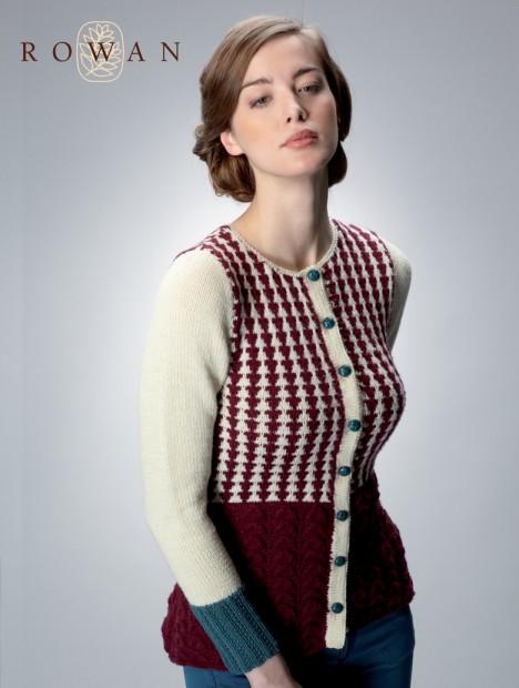Between the Wars: Peplum Cardigan free knit pattern