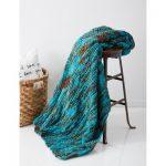 Big Basketweave Blanket Free Beginner Knit Pattern