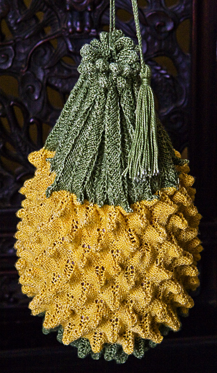 Big Pineapple Bag Free Knitting Pattern