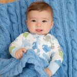 Cabled Baby Blanket Free Knitting Pattern
