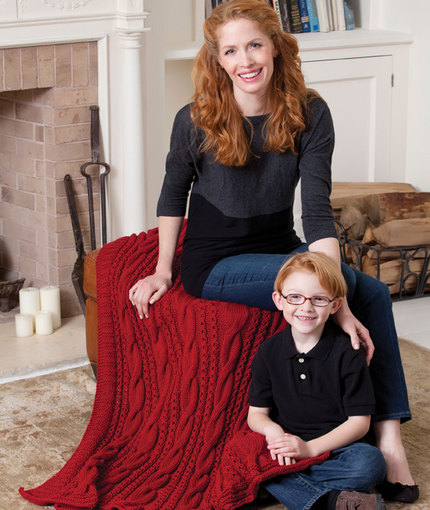 cabled-comfort-throw-free-knitting-pattern