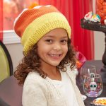 Candy Corn Slouchy Hat Free knitting Pattern