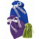 Caron Knit Gift Bags Free Knitting Pattern