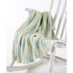 Caron Little Ridges Baby Blanket Free Beginner Knit Pattern