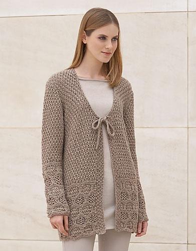 Catena Merino Free Cardigan Knitting Pattern