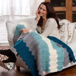 Chevron Knit Throw Free Knitting Pattern