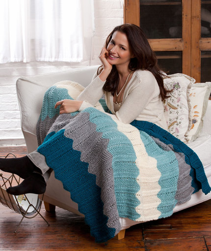 chevron-knit-throw-free-knitting-pattern