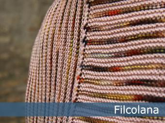 Chrysanthemum - garter stitch striped shawl 1