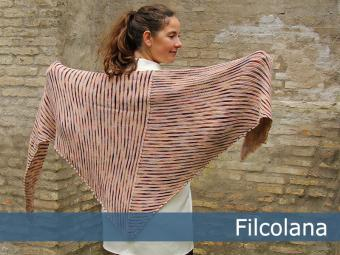 Chrysanthemum - garter stitch striped shawl