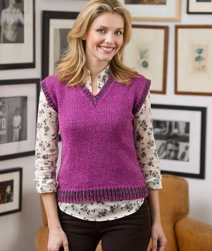 Classic Vest Free Knitting Pattern