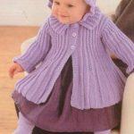 Coat & Bonnet Baby Knitting Set