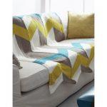 Color Pop Chevron Blanket Free Knitting Pattern