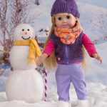 "Cowl & Beanie for 18"" Doll Free Knit Pattern"