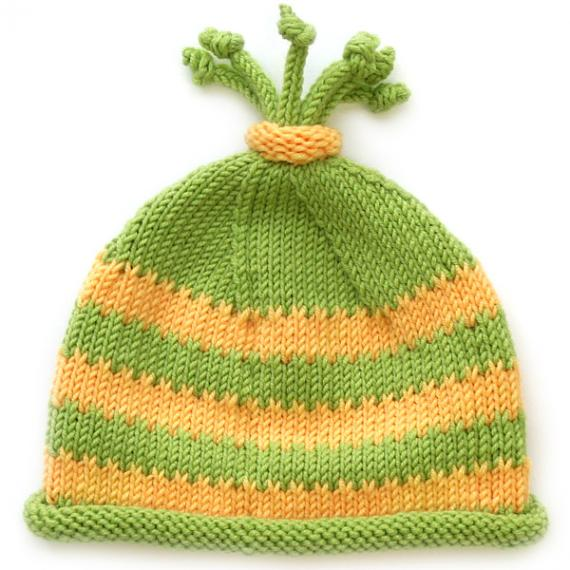 Free free striped baby hat knitting pattern Patterns ⋆ Knitting Bee ...