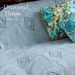 Diamond Throw Free Knitting Pattern