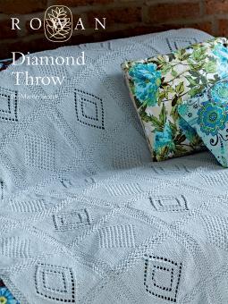 Diamond Throw Free Knitting Pattern