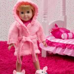 Doll Robe and Bunny Slippers Free Knit Pattern
