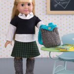 Dolls Day at School Free Knitting Pattern