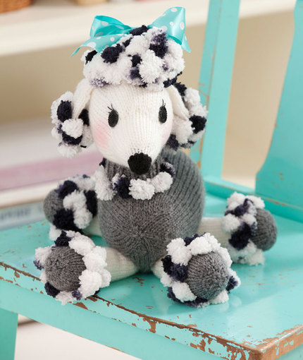 Free Knitting Pattern Toy Puppy : Dominique Pomp-a-Poodle Free Dog Toy Knit Pattern ? Knitting Bee