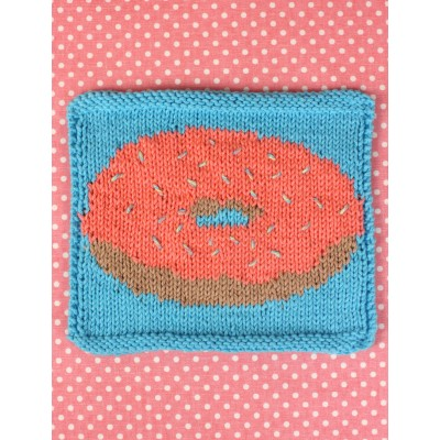 Donut Dishcloth Free Intermediate Knit Pattern