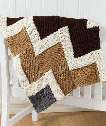 Easy Knit Zig Zag Pattern : Easy knit zigzag afghan free knitting pattern ⋆ bee