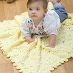 Eyelet Baby Blanket Free Knitting Pattern
