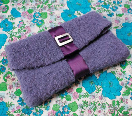 Felted clutch free knitting pattern