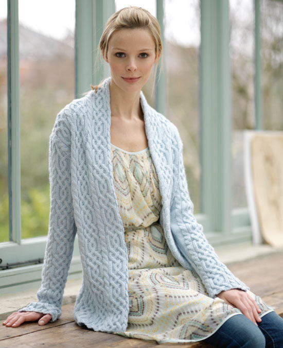 Free Knitting Pattern For Cardigan : Free Online Aran Uk Knitting Patterns