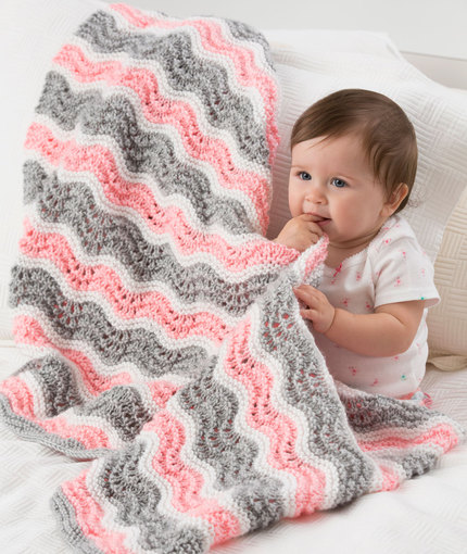 Baby Girl Chevron Blanket Free Pattern