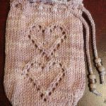 Free Two of Hearts Tarot Bag Knitting Pattern