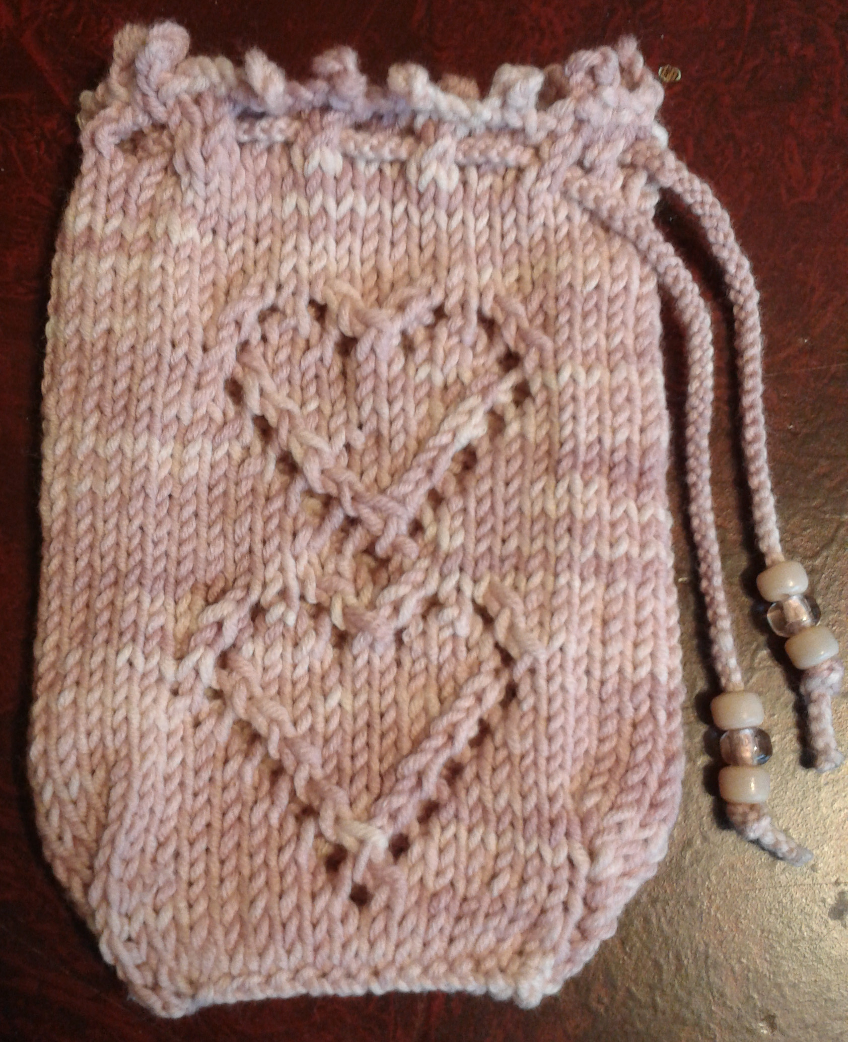 Free Two of Hearts Tarot Bag Knitting Pattern ⋆ Knitting Bee
