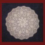 Free circular doily knitting pattern