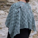 Free leaf motif shawl knitting pattern