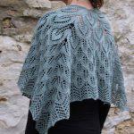 Free leaf motif shawl knitting pattern