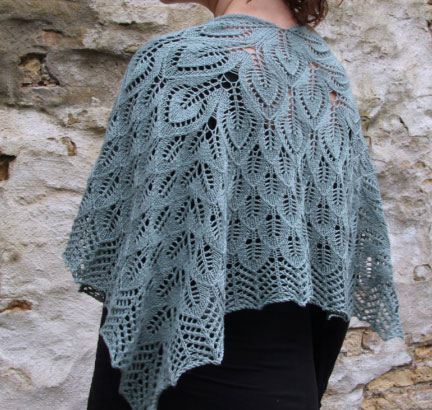 Free Leaf Motif Shawl Knitting Pattern Knitting Bee