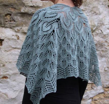 Free Leaf Motif Shawl Knitting Pattern Knitting Bee