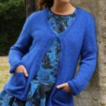 Free stockinette cardigan knit pattern with pockets